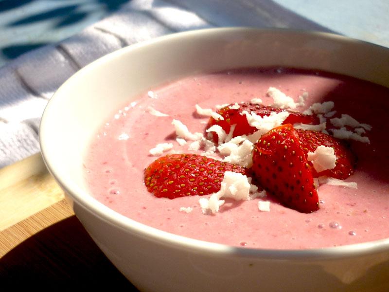 smoothie de fresa | Receta vegana