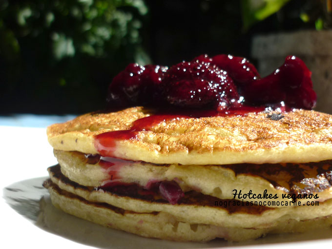 hotcakes veganos | Receta vegana