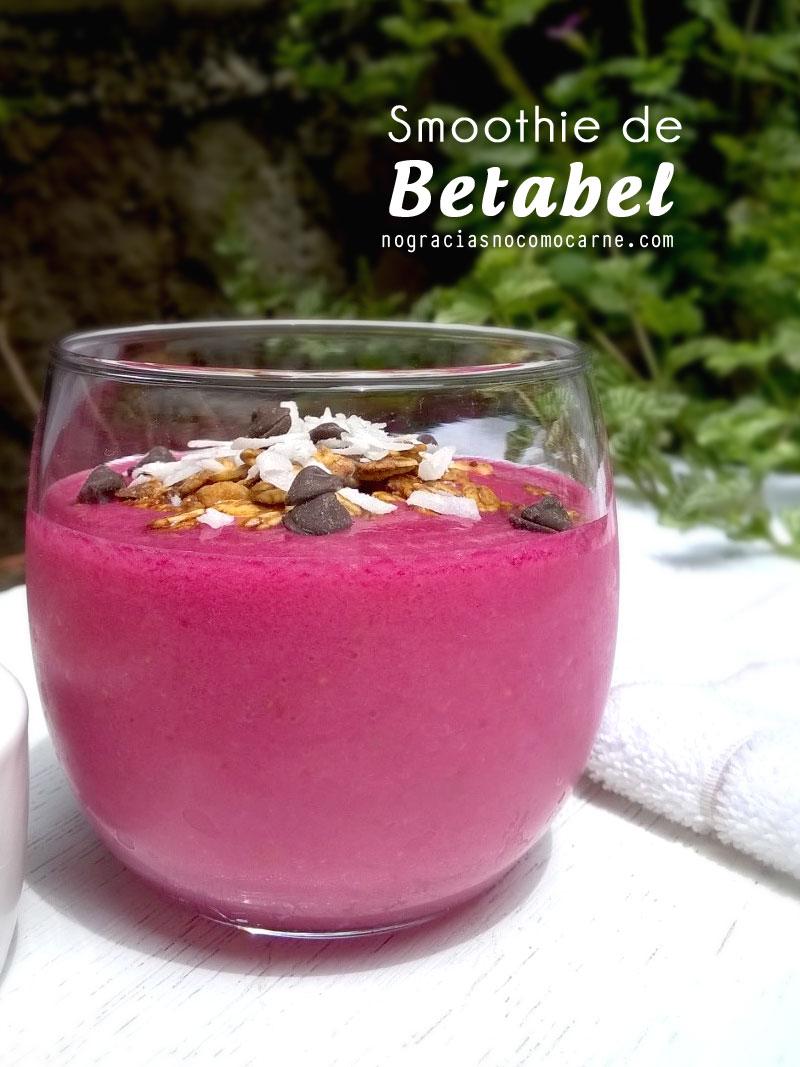 Smoothie de betabel (Remolacha) | No gracias, no como carne