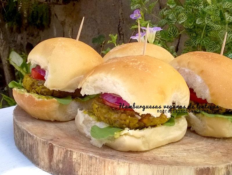 Hamburguesas de lentejas veganas