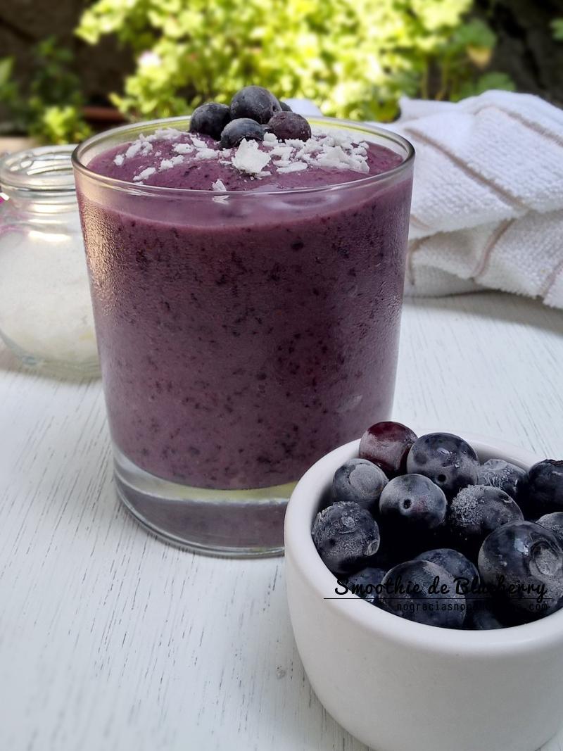 Recetas veganas: Smoothie de Blueberry