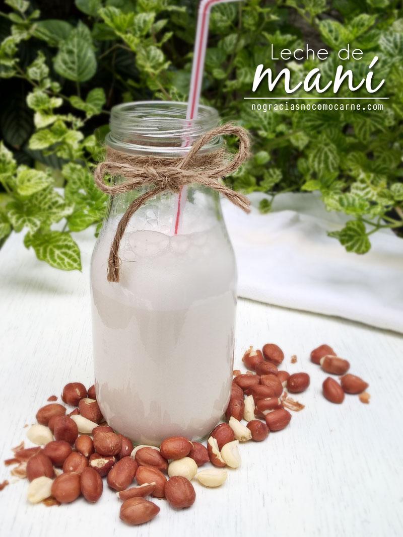 Leche de maní (cacahuate) hecha en casa