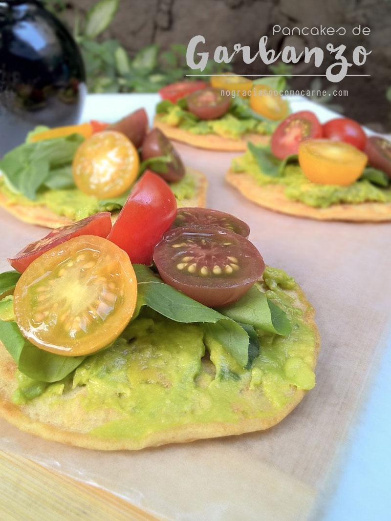 Pancakes veganos de garbanzo {Libre de gluten} | Recetas Veganas - No gracias, no como carne