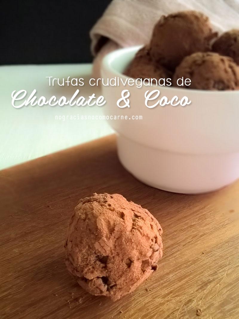 Trufas crudiveganas de chocolate y coco   No gracias, no como carne