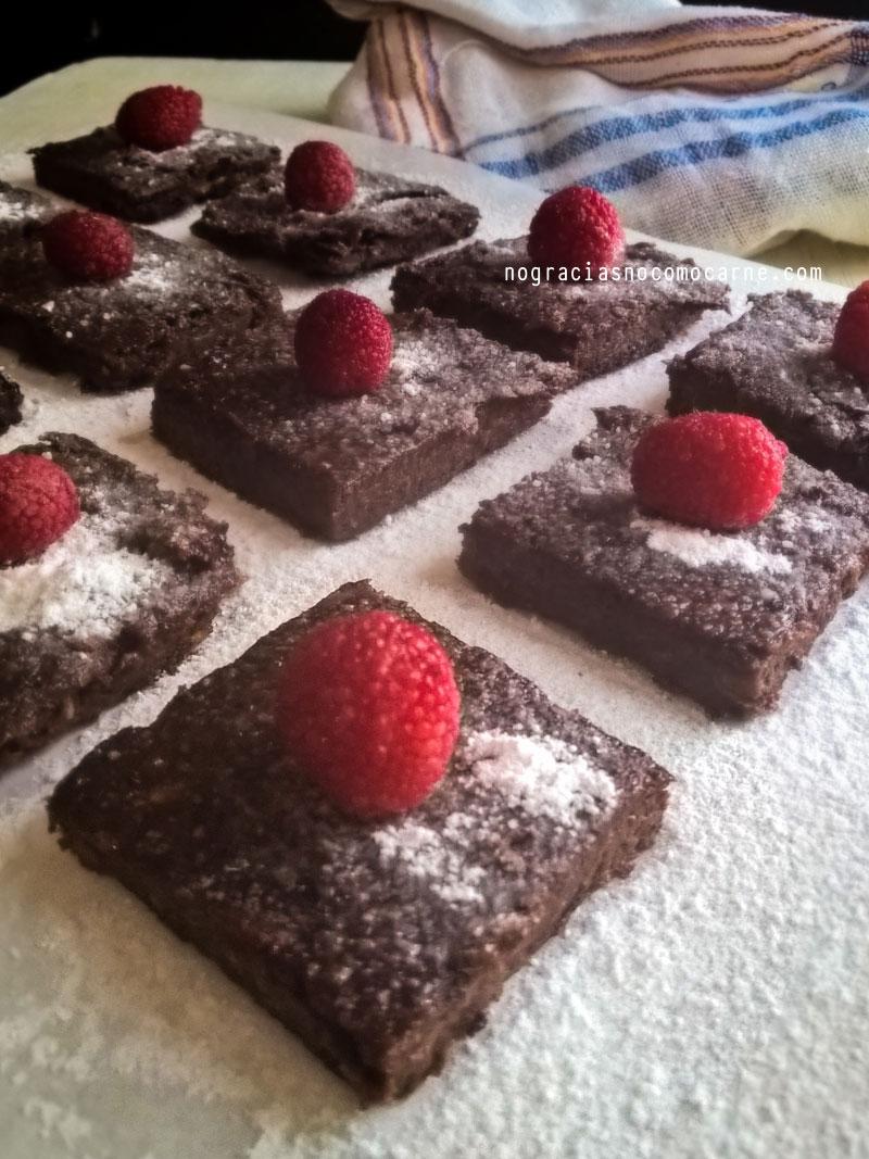 Mini brownies veganos sin harina | No gracias, no como carne