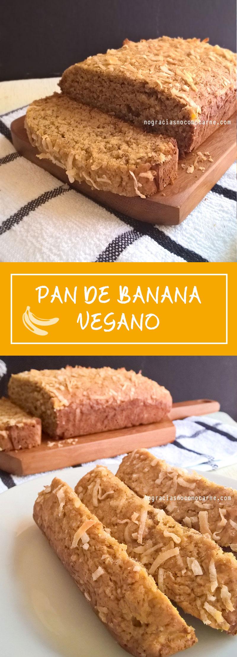 Pan de banana vegano | No gracias, no como carne